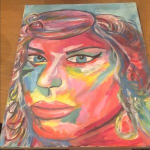 Other - Painting of woman's face.